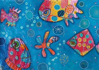 Mixed Media - The Wild Kingdom - Undersea by Barbara Orenya