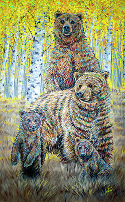 Painting - The Wild Life by Teshia Art