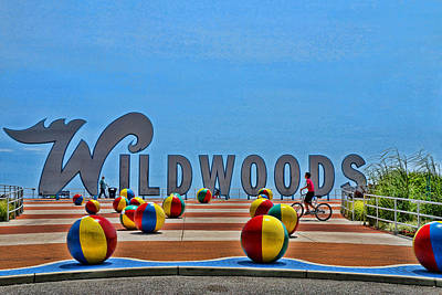 Photograph - The Wildwoods Sign by Allen Beatty