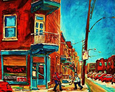 Hockey In Montreal Painting - The Wilensky Doorway by Carole Spandau