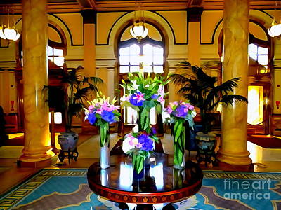 Photograph - The Willard Lobby by Ed Weidman