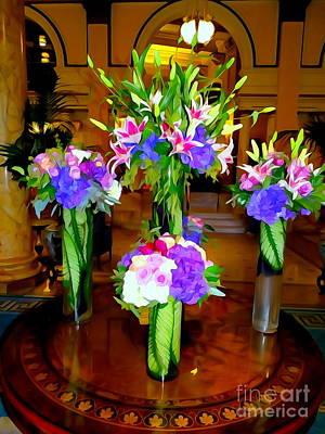 Digital Art - The Willards Lobby Bouquets by Ed Weidman