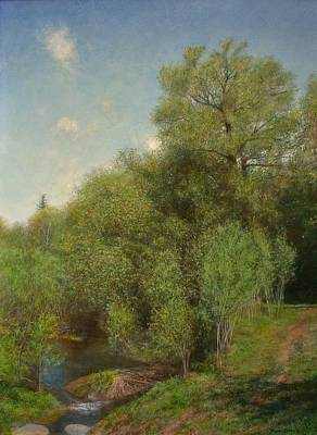 Print featuring the painting The Willow Patch by Wayne Daniels