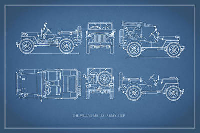 The Willys Jeep Art Print