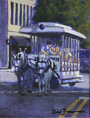 The Wilmington Trolley Original by David Zimmerman