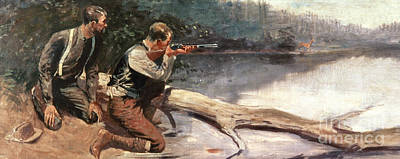 Remington Painting - The Winchester by Frederic Remington