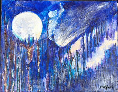 Painting - The Wind Blows A Kiss To The Moon by Seth Weaver