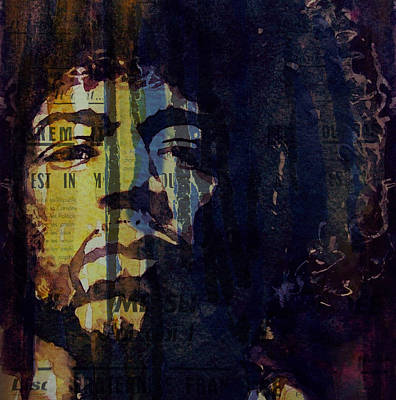 Vocalist Painting - The Wind Cries Mary Reprise  by Paul Lovering