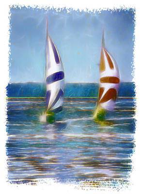 Digital Art - The Wind In Your Sails by OLena Art Brand
