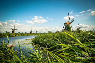 American Milestones - The wind mills of Kinderdjik by Hannes Cmarits