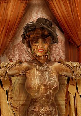 Digital Art - The Wind-up Lady by Fabrizio Uffreduzzi