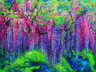 The Wind Whispers Wisteria Art Print