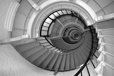 Photograph - The Winding Stairs Of A Lighthouse by rd Erickson