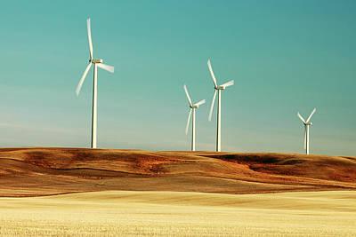 Ethridge Photograph - The Windmill Farm by Todd Klassy