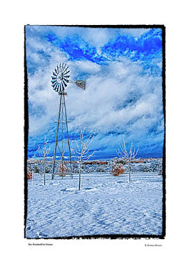 Photograph - The Windmill In Winter by R Thomas Berner