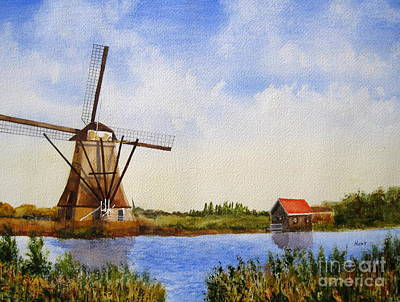 Painting - The Windmill by Shirley Braithwaite Hunt