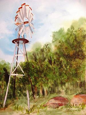 The Windmill  Art Print by Vicki  Housel
