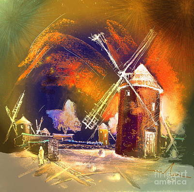 Campo Painting - The Windmills Del Quixote 01 by Miki De Goodaboom