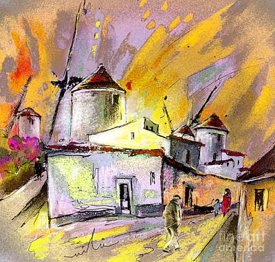 Campo Painting - The Windmills Del Quixote 03 by Miki De Goodaboom