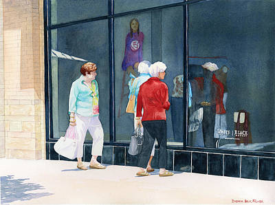 Painting - The Window Shoppers by Brenda Beck Fisher