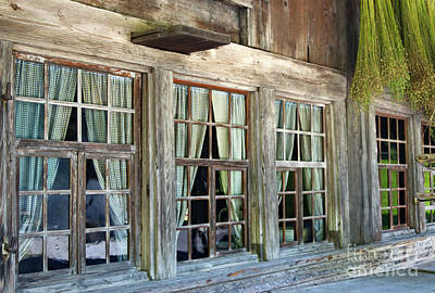 Photograph - the windows of the Madiswil house by Michelle Meenawong