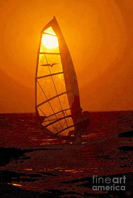 The Windsurfer Art Print by David Lee Thompson
