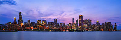 Blue Hues - The Windy City by Scott Norris