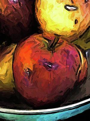 Digital Art - The Wine Apple With The Gold Apples by Jackie VanO