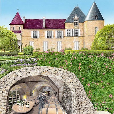 Painting - The Wine Caves Of France by Albert Puskaric