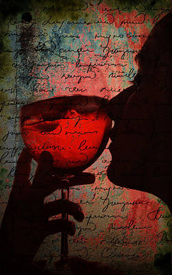 Digital Art - The Wine Diaries by Greg Sharpe