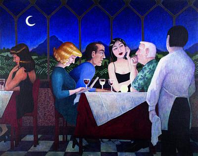 The Wine Drinkers Art Print