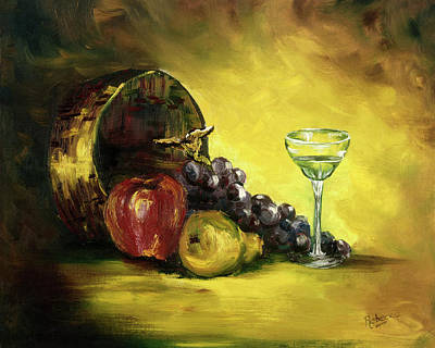The Wine Glass Art Print by Rebecca Kimbel