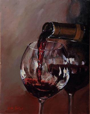 Painting - The Wine Pour by Nita Burge