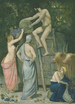 Painting - The Wine Press by Pierre Puvis de Chavannes