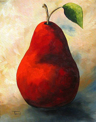 The Wine Red Pear  Art Print by Torrie Smiley
