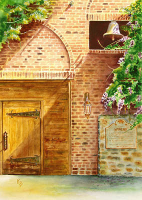Painting - The Winery by Karen Fleschler