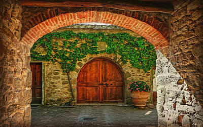 Photograph - The Winery's Entrance by Hanny Heim