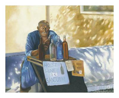 Art Print featuring the painting The Wineseller by Marlene Book