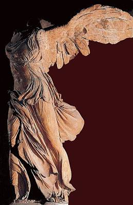The Winged Victory Of Samothrace Number 3 Art Print