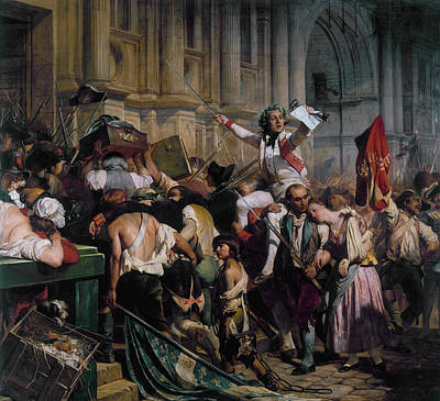 Painting - The Winners Of The Bastille In Front Of The Town Hall by Paul Delaroche