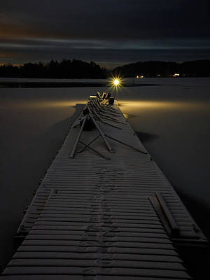Photograph - The Winter Dock By Night by Jouko Lehto