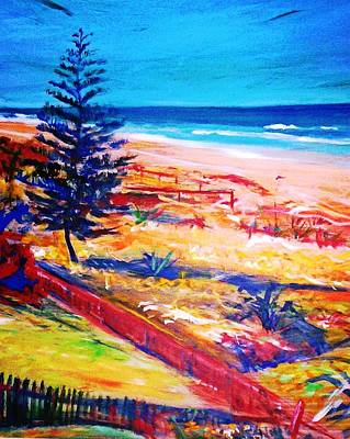 Print featuring the painting The Winter Dunes by Winsome Gunning