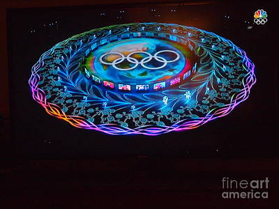 Photograph - The Winter Olympics 2 by Nancy Kane Chapman