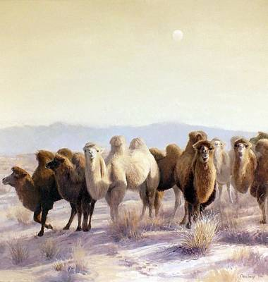 Camel Wall Art - Painting - The Winter Solstice by Chen Baoyi
