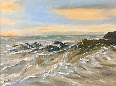 Painting - The Winter Surf by Anne Barberi