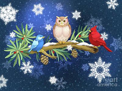 Digital Art - The Winter Watch by Randy Wollenmann
