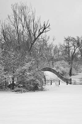 The Winter White Wedding Bridge Art Print
