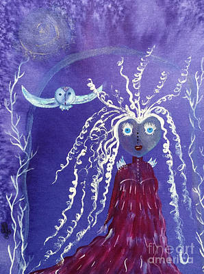 Painting - The Wisdom Keeper by Julie Engelhardt