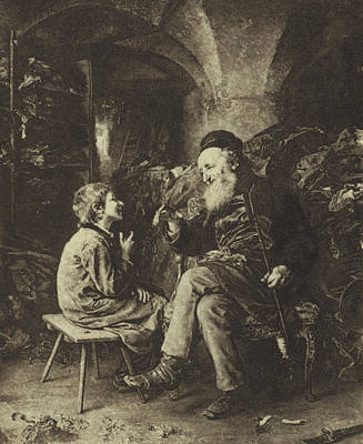 Drawing - The Wisdom Of Solomon by Ludwig Knaus