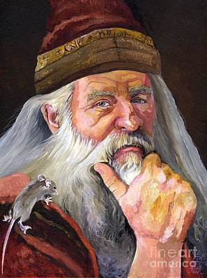 Painting - The Wise Wizard by J W Baker